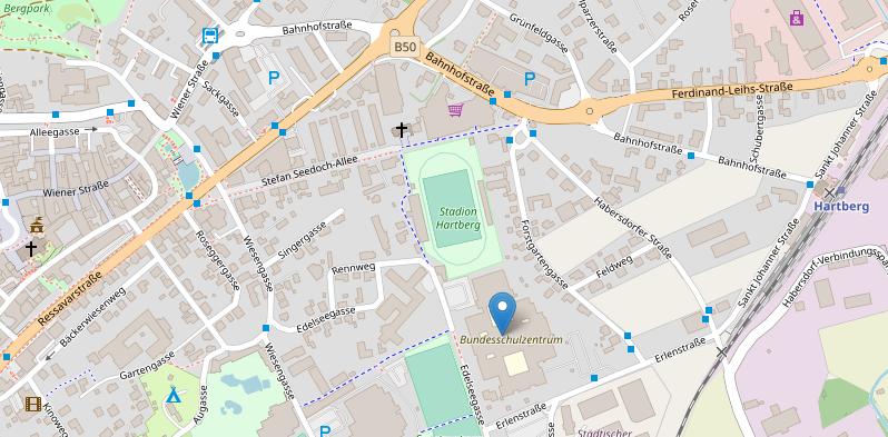 Straßenkarte von Hartberg